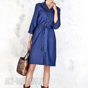 hand-made sukienki jeansowa szmizjerka