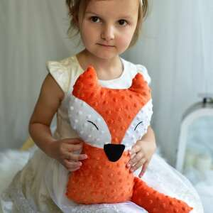 Przytulanka dziecięca lisek mały maskotki ateliermalegodesignu