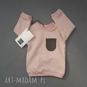 różowa bluza z kieszonką, bluza, dla dziewczynki, bluzka, t shirt, hipster