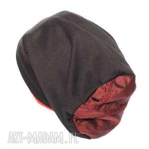 czapka damska dzianinowa ciepła, czapka, etno, damska, sport, smerfetka