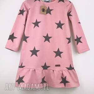 sukienka star pink, sukienka, gwiazdy, gwiazdki, pudrowy