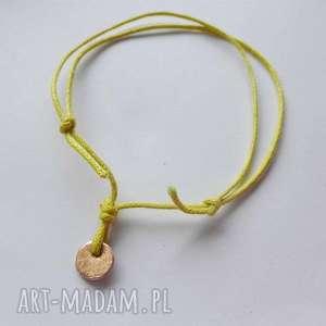 OKRĄG bransoletka, brąz, okrągłe, sznurek