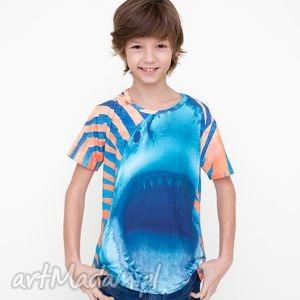 T-shirt dla dzieci z pomarańczowym rekinem, koszulka, dziecko, tshirt, kids, mrgugu
