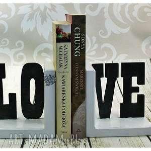 Podpórki pod książki - LOVE , podstawki, podpórki, pod, książki, love, cyrkonie
