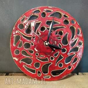ażurowy zegar ceramika, ceramika rękodzieło, z ceramiki, dekoracyjny