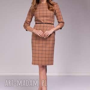 Sukienka Fabienne, krata, wigilia, moda