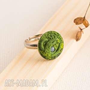 Delikatny pierścionek inspirowany naturą, pierścionek, pierścionekregulowan