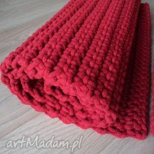 Dwa czerwone dywaniki 40 x 120 cm każdy, dywan, chodnik, czerwony, sznurek