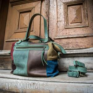 podróżne stylowa damska torba od ladybuq, ręcznie wykonana torebka do pracy
