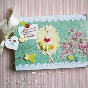 ręcznie robione scrapbooking notesy stylowy pamiętnik ciążowy / będę mamą