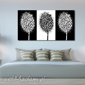 aleobrazy obraz drzewo 2 - 120x70cm na płótnie, obraz, drzewo, czarno, białe