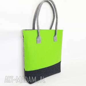 Tripfelt - torba na ramię szaro zielona totostyle