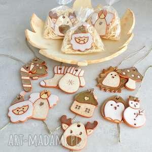 rustic - zawieszka ceramiczna, zawieszka, choinka, rustic, renifer, bałwan, aniołek