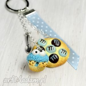 Breloczek Cookie Monster, ciasteczko, cukierek, mm, potwór, modelina, fimo