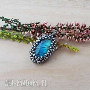 wisiorki koronkowy błękit - wisior, srebrny zawieszka srebrna, biżuteria