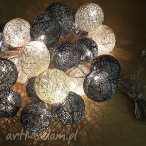 cotton balls 24 lampki w dwóch kolorach, cotton, balls, girlanda, lampki