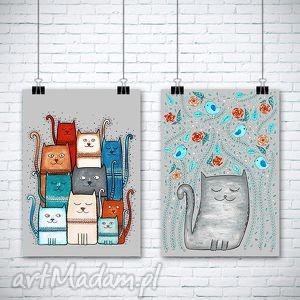 zestaw 2 prac - kot, koty, kotek