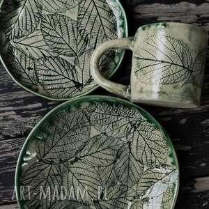 leśna jeżyna, zestaw naczyń, kubek, kubeczek, kubek i talerzyk ceramika, prezent