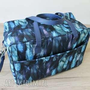 torba podróżna - piórka, samolot, wycieczka, wakacje, lekka, pakowna