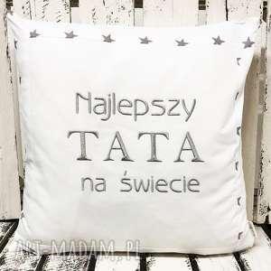poduszki poduszka prezent najlepszy tata na świecie 40x40cm, tata, tatuś, ojciec