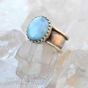 Prezent Pierścień z larimarem Royal, larimar, srebrny, pierścień, minerały