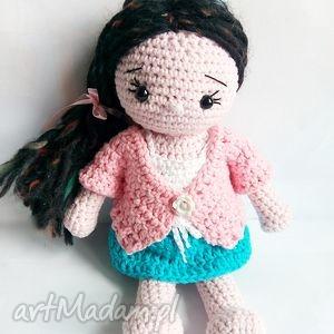 Szydełkowa lalka Helenka - ,maskotka,lalka,zabawka,prezent,