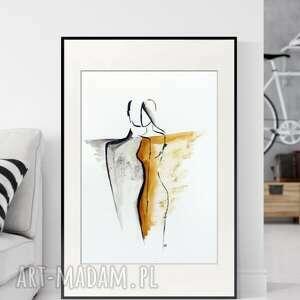 obraz ręcznie malowany 50 x 70 cm, nowoczesna abstrakcja, 2700068