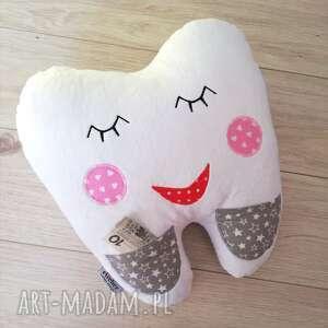 handmade zabawki poduszka dziecięca ząbek
