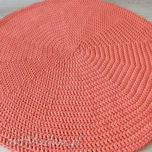 OKRĄGŁY DYWAN W KOLORZE POMARAŃCZOWYM - ,podkładki,dywan,okrągły,