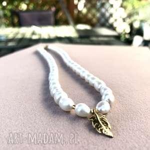 Naszyjniki zgustem perły, naturalne, srebro, 925,