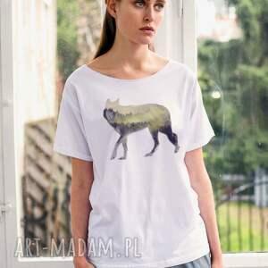 hand made koszulki wood wolf oversize t-shirt