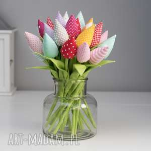 dekoracje tulipany bawełniane 12 sztuk, tulipany, babcia, kwiaty, prezent