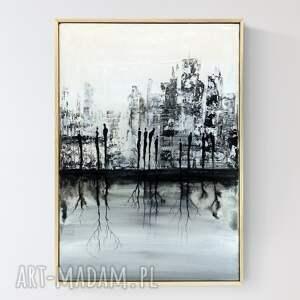 abstrakcja z wyraźną strukturą, obraz miasto w stylu industrial, loft, 38 x
