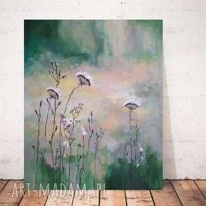 SŁONECZNA ŁĄKA- obraz akrylowy formatu 50/60 cm, łąka, akryl, obraz,