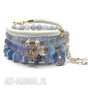święta, ice blue /03 06 2020/ set, kamienie, minerały, zawieszki, komplet