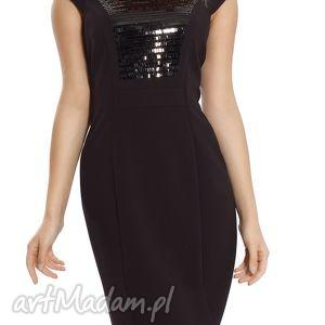 sukienka mała czarna z cekinami rozmiar 46, elegancka, wieczorowa, sylwestrowa