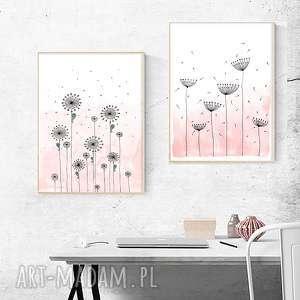 zestaw 2 prac a2, kwiaty, róż, pastele, plakat, obraz