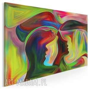 Obraz na płótnie - TWARZE ABSTRAKCJA 120x80 cm (39201), twarze, artystyczny