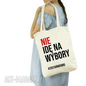 torba eko nie idę na wybory #zostańwdomu, eko, ramie, reklamówka, siatka