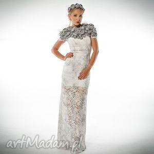 TWORZYSŁAWA MAXI - KORONKOWA SUKNIA ŚLUBNA, suknia, luksusowa, ekskluzywna, ręcznie