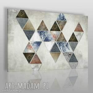 obraz na płótnie - trójkąty loft 120x80 cm 57101, trójkąty, trójkąt, kolorowy