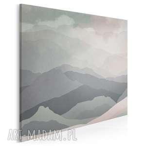 obraz na płótnie - wzgórza abstrakcja w kwadracie 80x80 cm 33502, góry