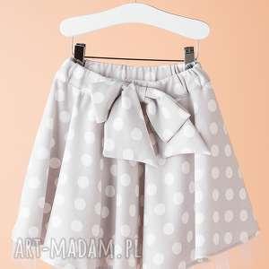ubranka spódnica ds10m, spódnica, rozkloszowana, kokarda, groszki, modna, stylowa