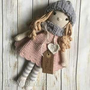 lalki szydełkowa lalka marysia, babyshowe, chrzest, prezent, urodziny