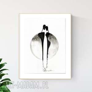 grafika 30x40 cm wykonana ręcznie, plakat, abstrakcja, elegancki minimalizm