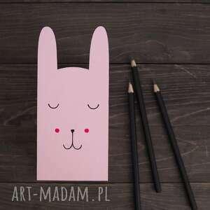 mały - pojemnik na kredki króliczek różowy, królik, pudełko