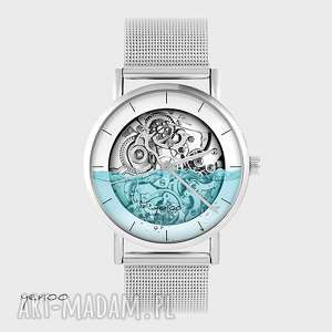 Prezent Zegarek, bransoletka - Steampunk wodny - metalowy,