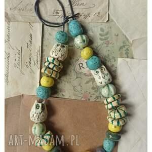 korale etno z sowami, ceramika, korale, sowy, boho, etno, biżuteria