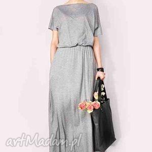 sukienka maxi z kieszeniami, sukienka, maxi
