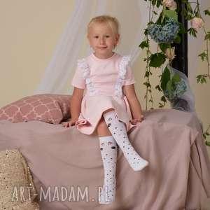 Sukienka dla dziewczynki z koroną, sukienka, koronka, rozkloszowana, dzianina